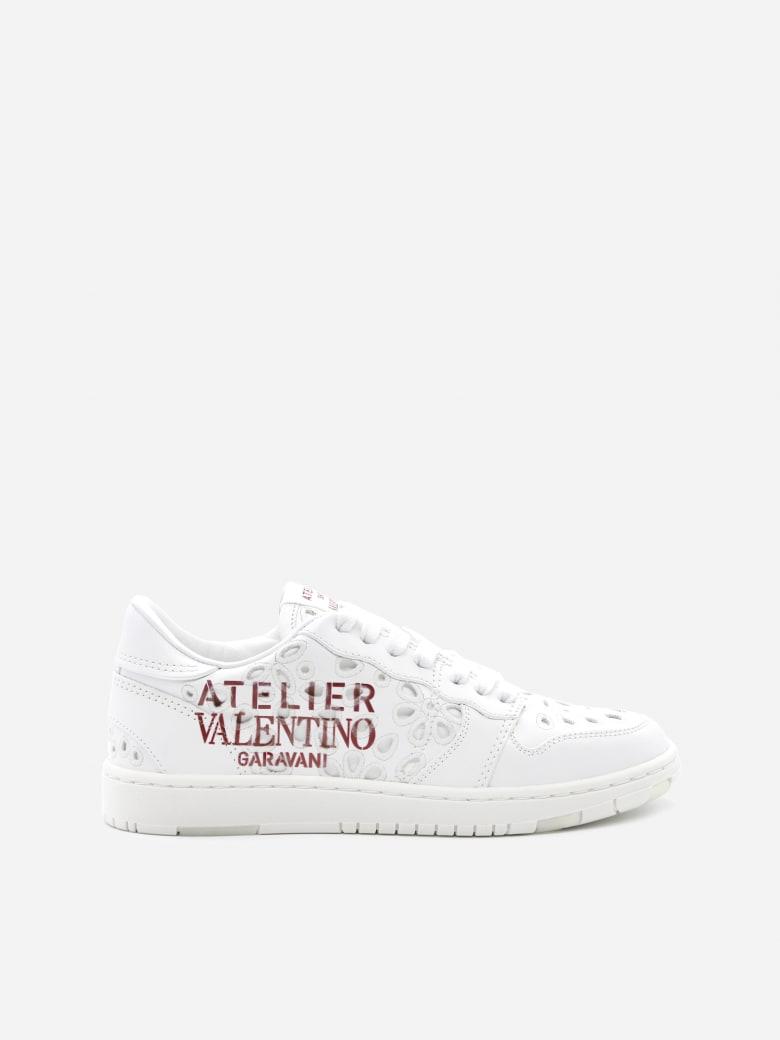 Valentino Garavani Atelier 08 San Gallo Edition Leather Sneakers - White