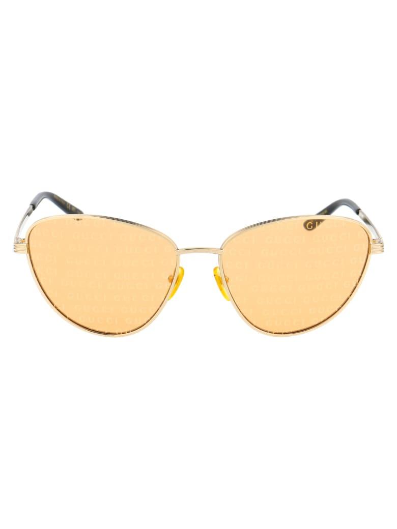 Gucci Gg0803s Sunglasses - 004 GOLD GOLD ORANGE