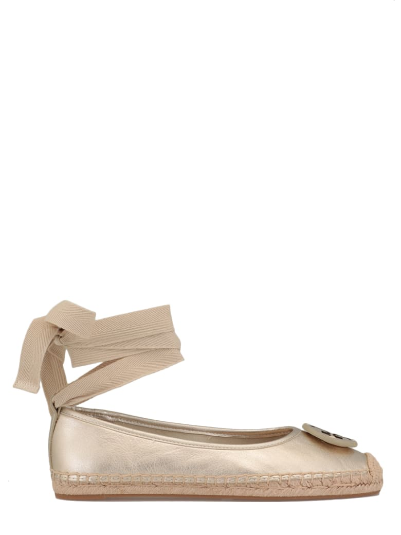 Tory Burch Leather Ballet Espadrilles - Oro