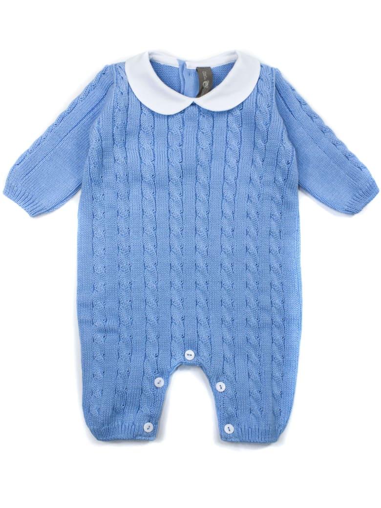 Little Bear Turquoise Cotton Romper - Azzurro