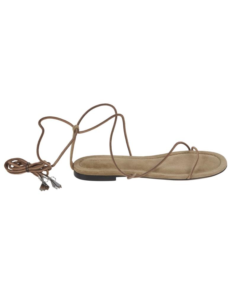 Isabel Marant Abila Flat Sandals - Natural