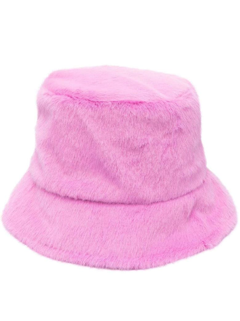 Apparis Pink Ecological Fur Hat - Pink