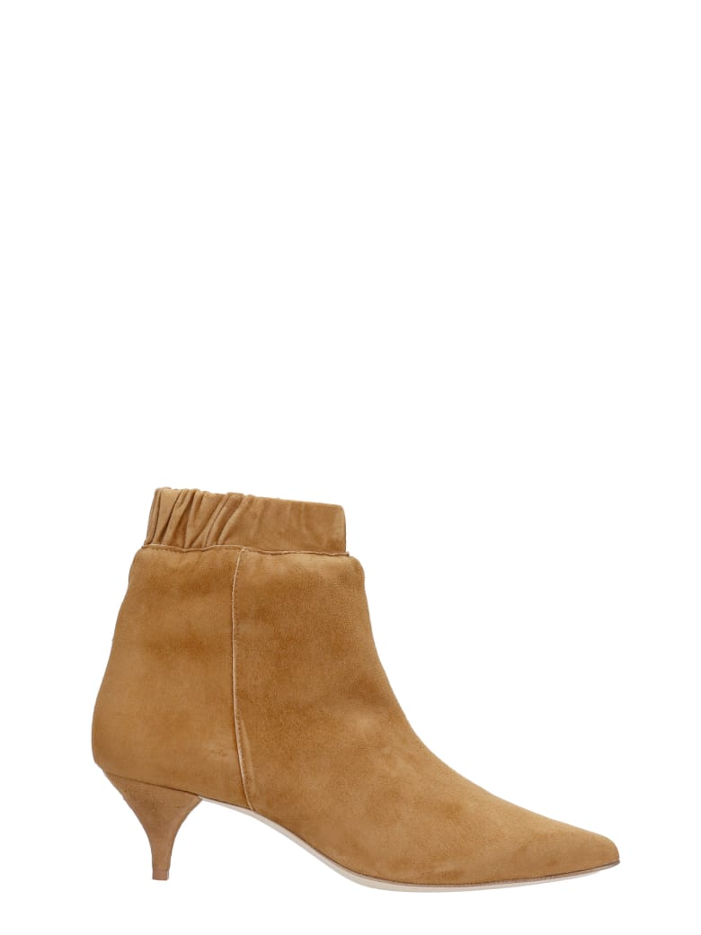 Alchimia Low Heels Ankle Boots In Leather Color Suede - leather color