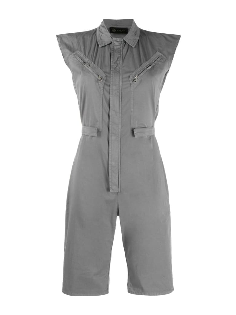 Mr & Mrs Italy Short Jumpsuit For Woman In Popeline - ANTRACITE