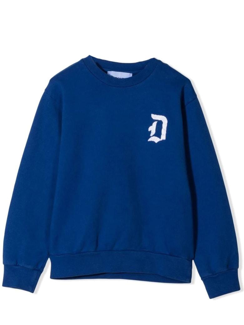 Dondup Blue Cotton Sweatshirt - Bluette