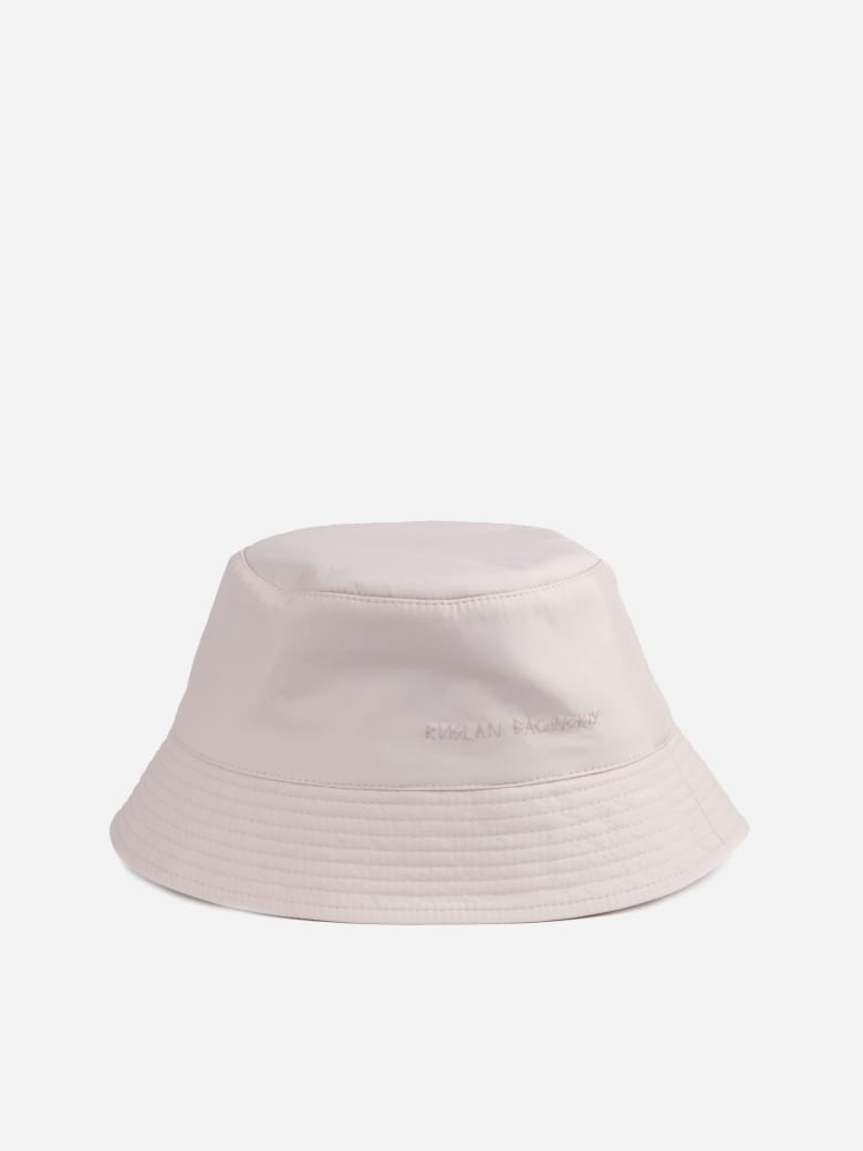 Ruslan Baginskiy Lampshade Bucket Hat With Embroidered Logo - Light pink