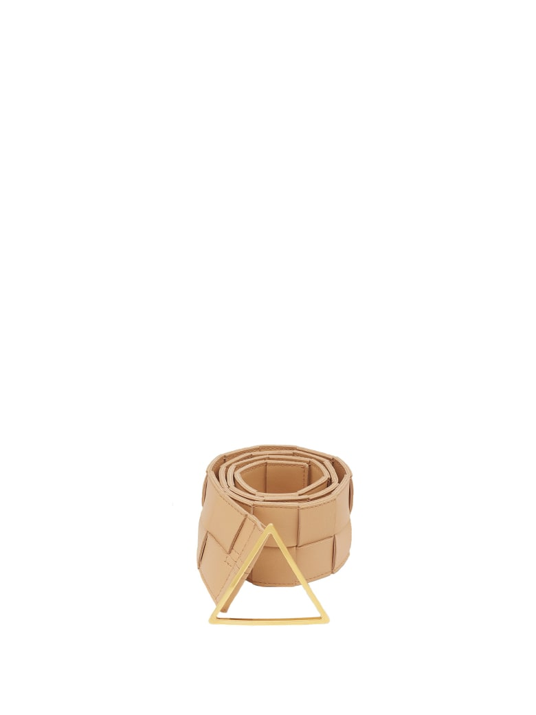 Bottega Veneta Bottega Veneta Maxi Intrecciato Belt - ALMOND GOLD