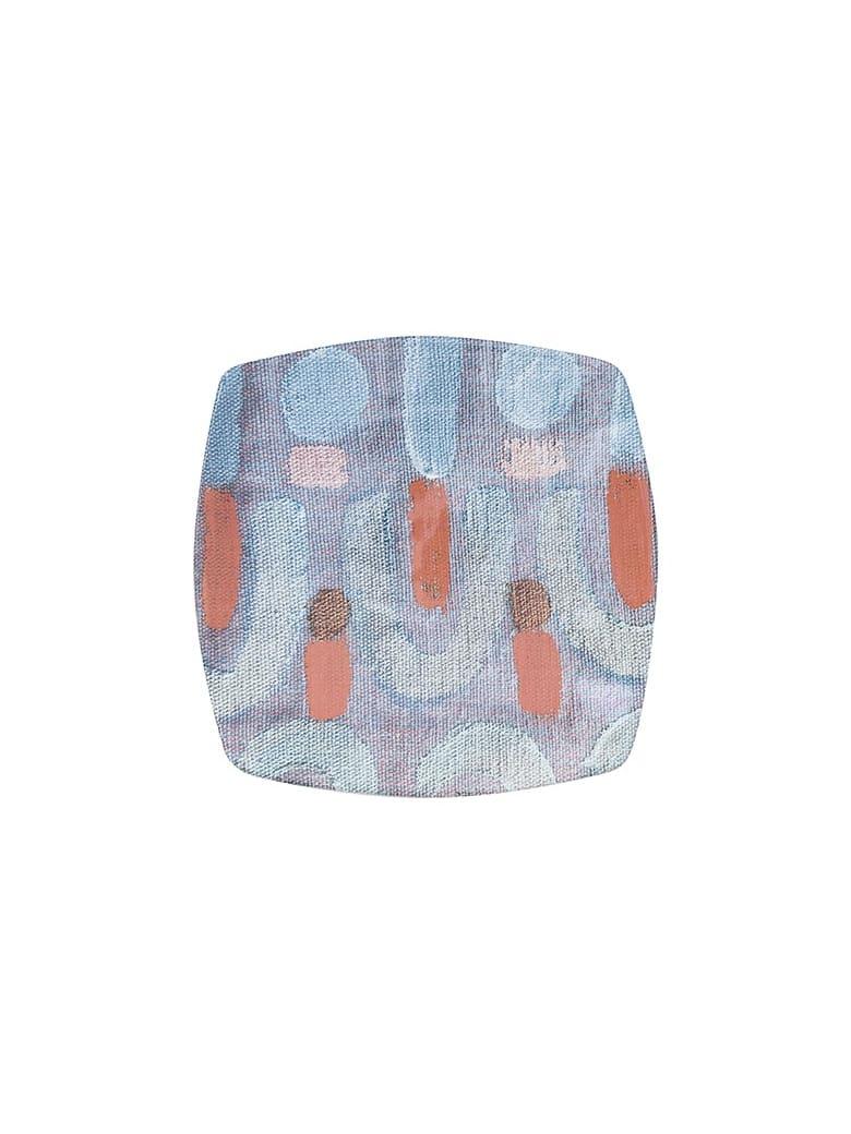 Le Botteghe su Gologone Plates Square Ceramic Colores 20,5x20,5 Cm - Fantasy Cyan