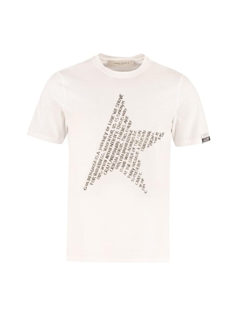 Golden Goose Adamo Cotton T-shirt - Bianca