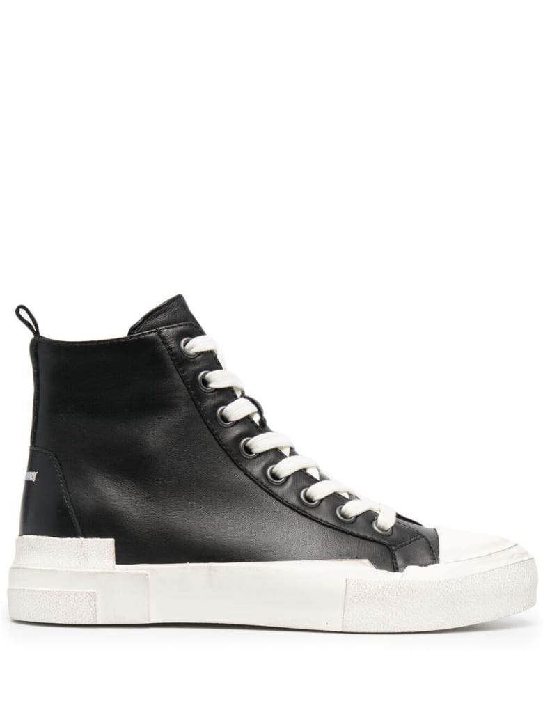 Ash Black Leather Sneakers - Black