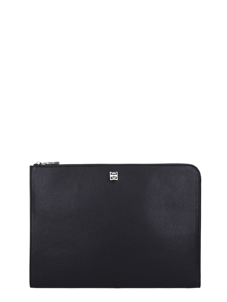 Givenchy Clutch In Black Leather - black