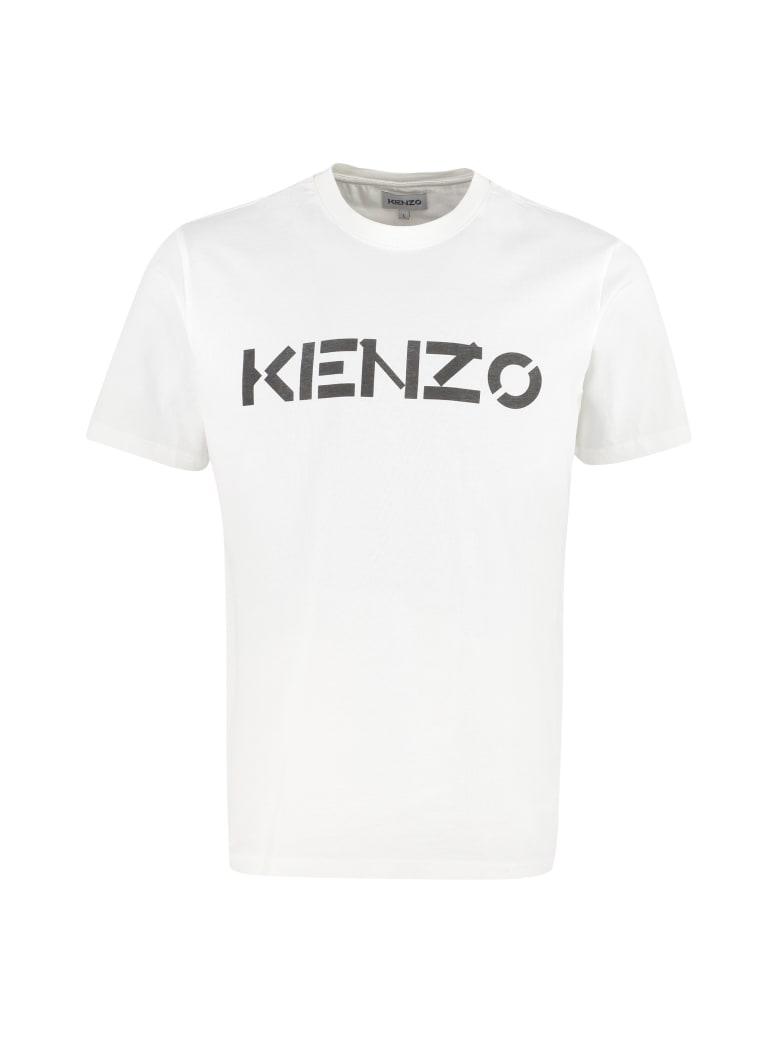 Kenzo Cotton Crew-neck T-shirt - Bianco