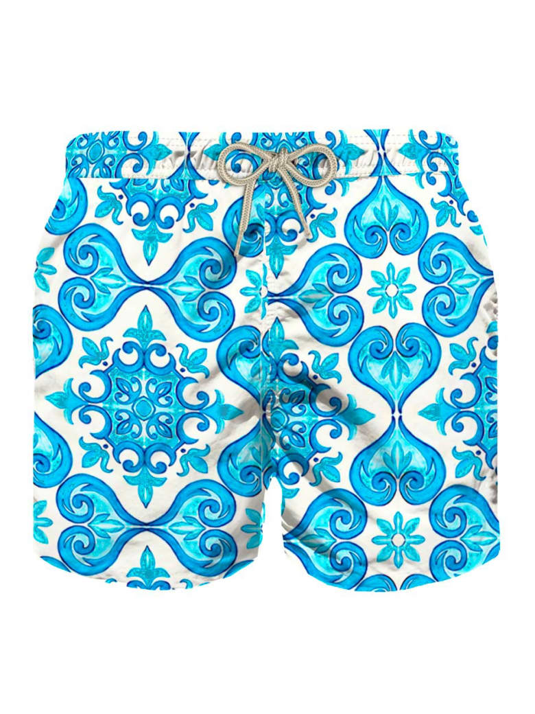 MC2 Saint Barth Majolica Print Boy's Light Swimshorts - Fancy