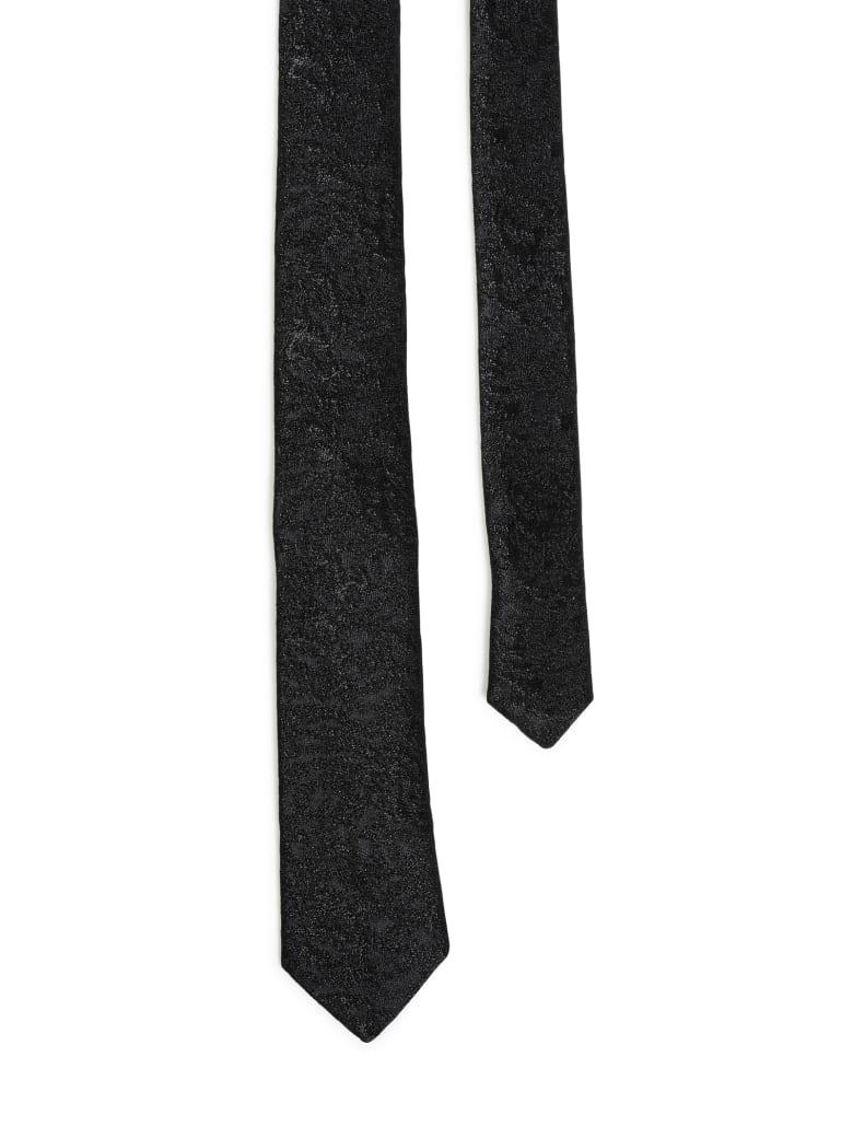 Saint Laurent Tie Cravate Animalie - Black