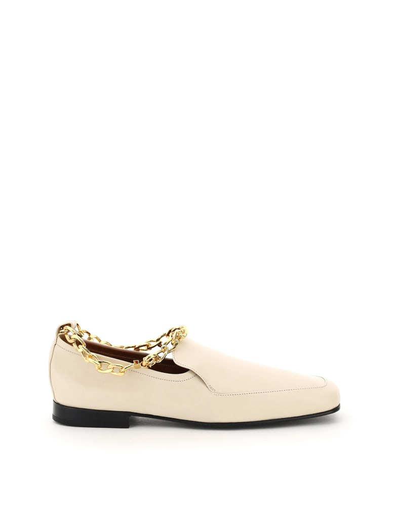 BY FAR Nick Loafers With Chain - NEUTRALS