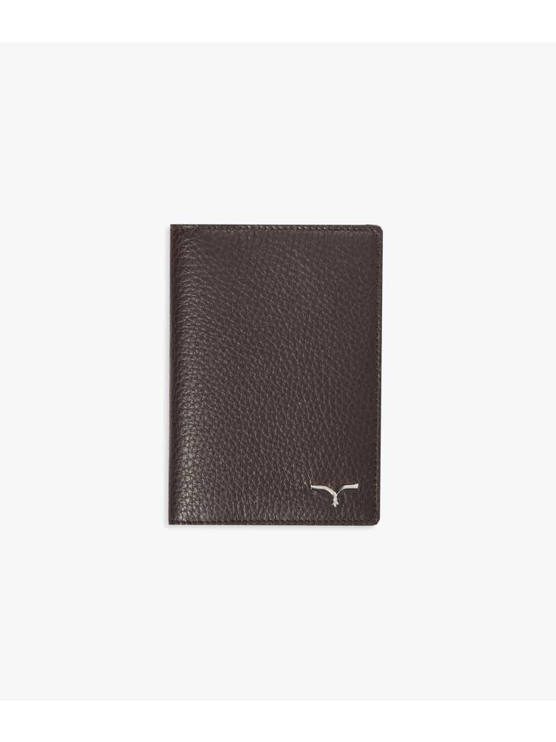 """Larusmiani Passport Cover """"concorde"""" - brown"""