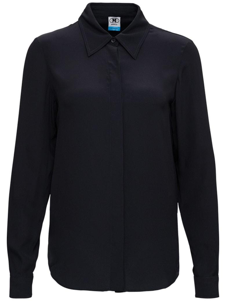 M Missoni Black Silk Blend Shirt - Black