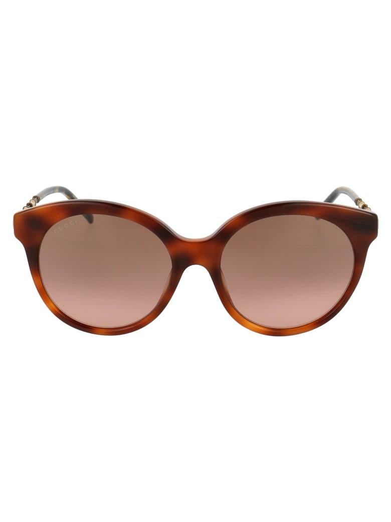 Gucci Gg0653s Sunglasses - 002 HAVANA GOLD BROWN