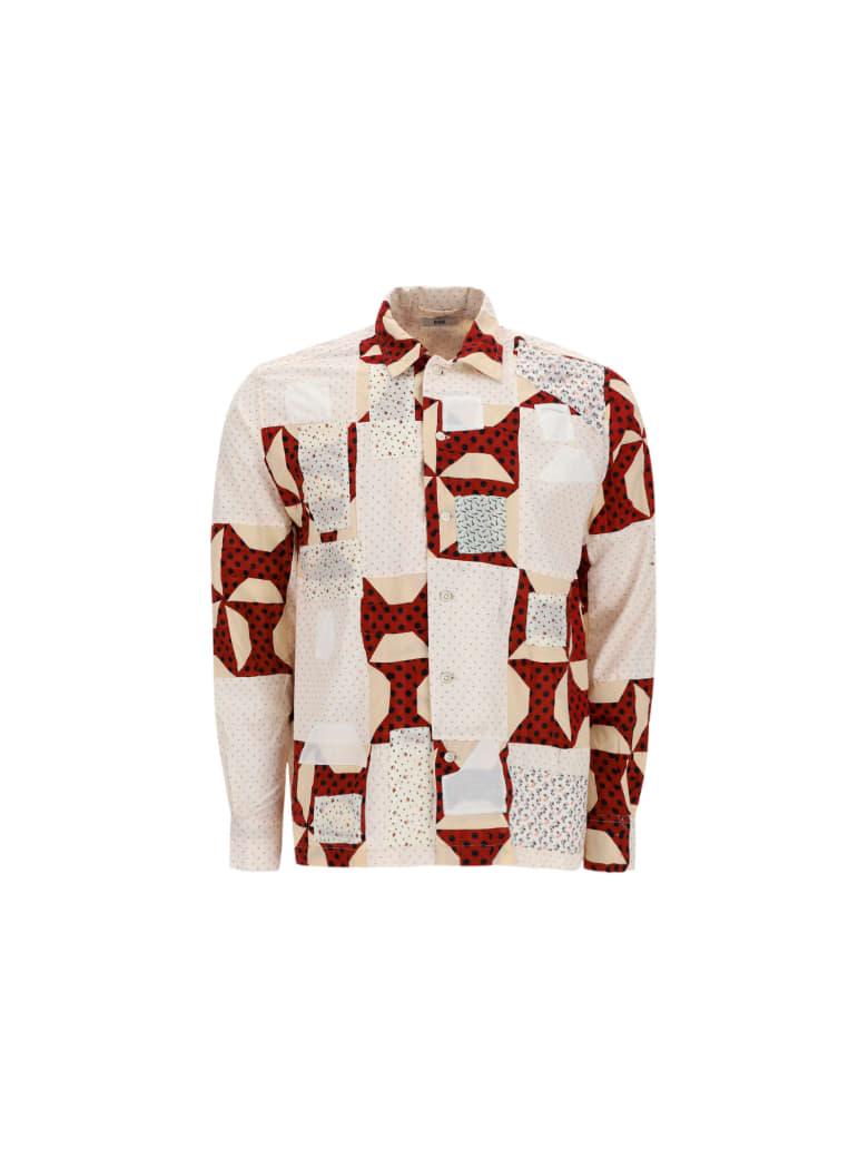 Bode Shirt - White/bordeaux