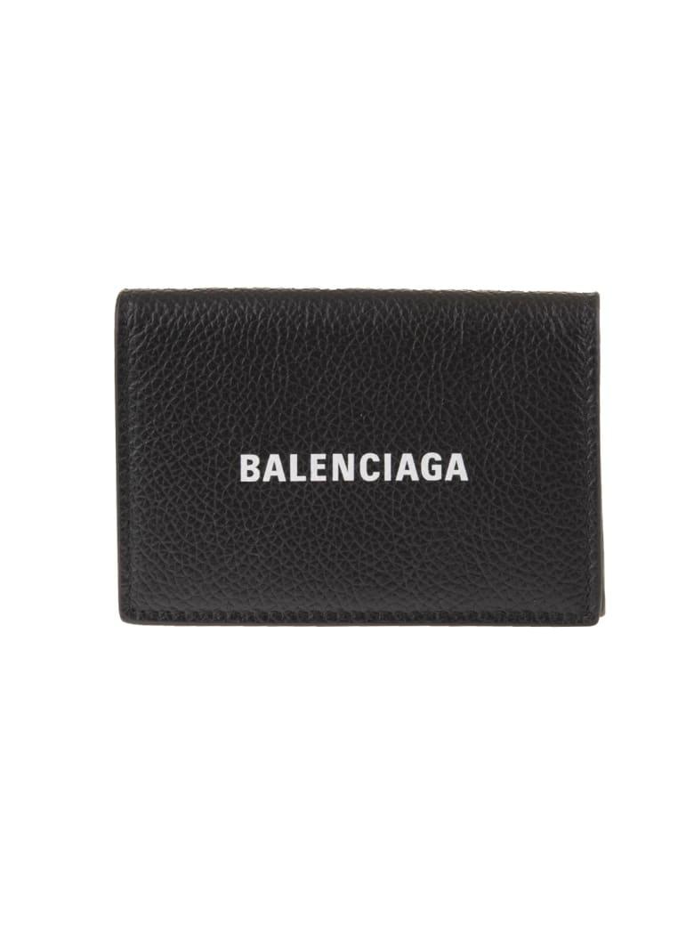 Balenciaga Man Black Cash Mini Wallet - Black/white