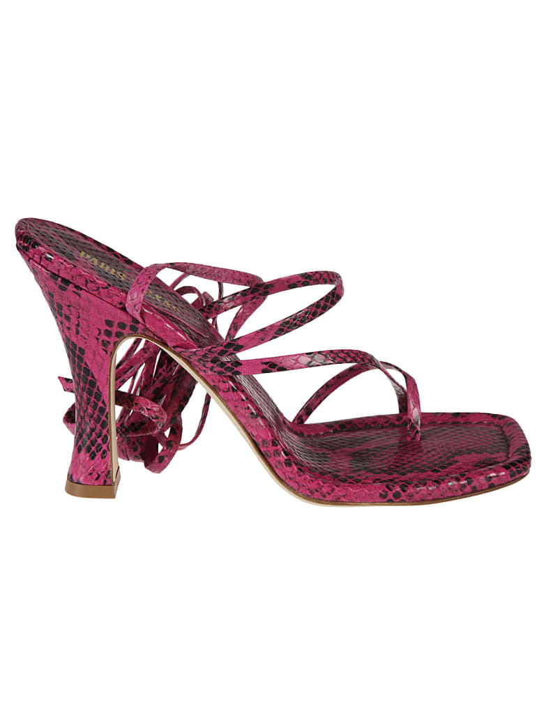 Paris Texas Mirta Lace-up Thong Sandals - Fuchsia