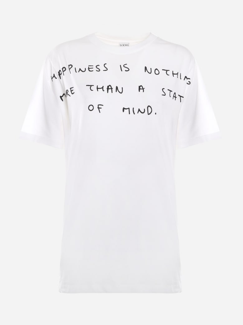 Loewe Cotton T-shirt With Contrasting Print - White