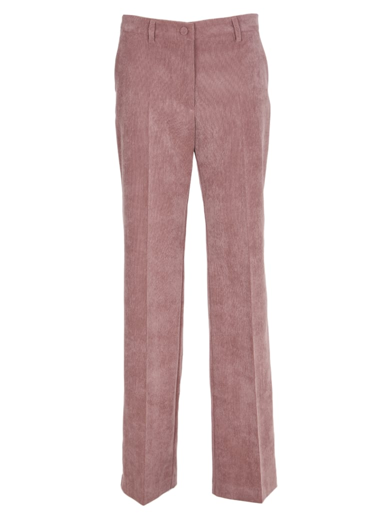 Hebe Studio Pink Cordury Trousers - Pink
