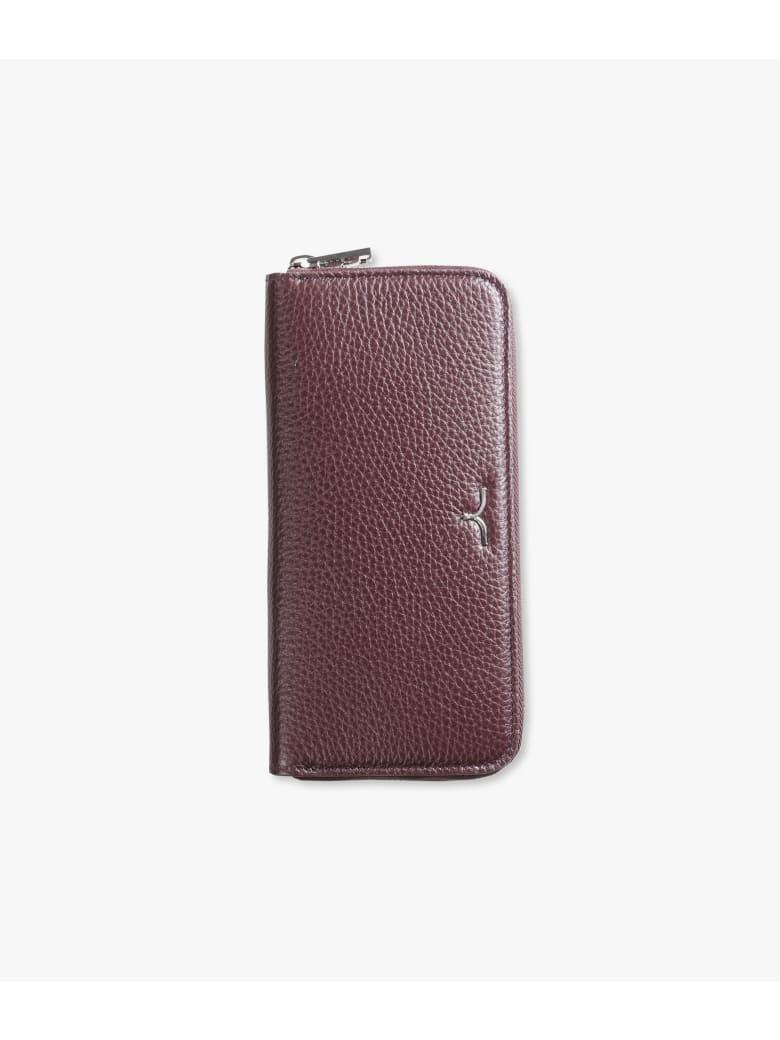 "Larusmiani Wallet ""black Swan"" - burgundy"