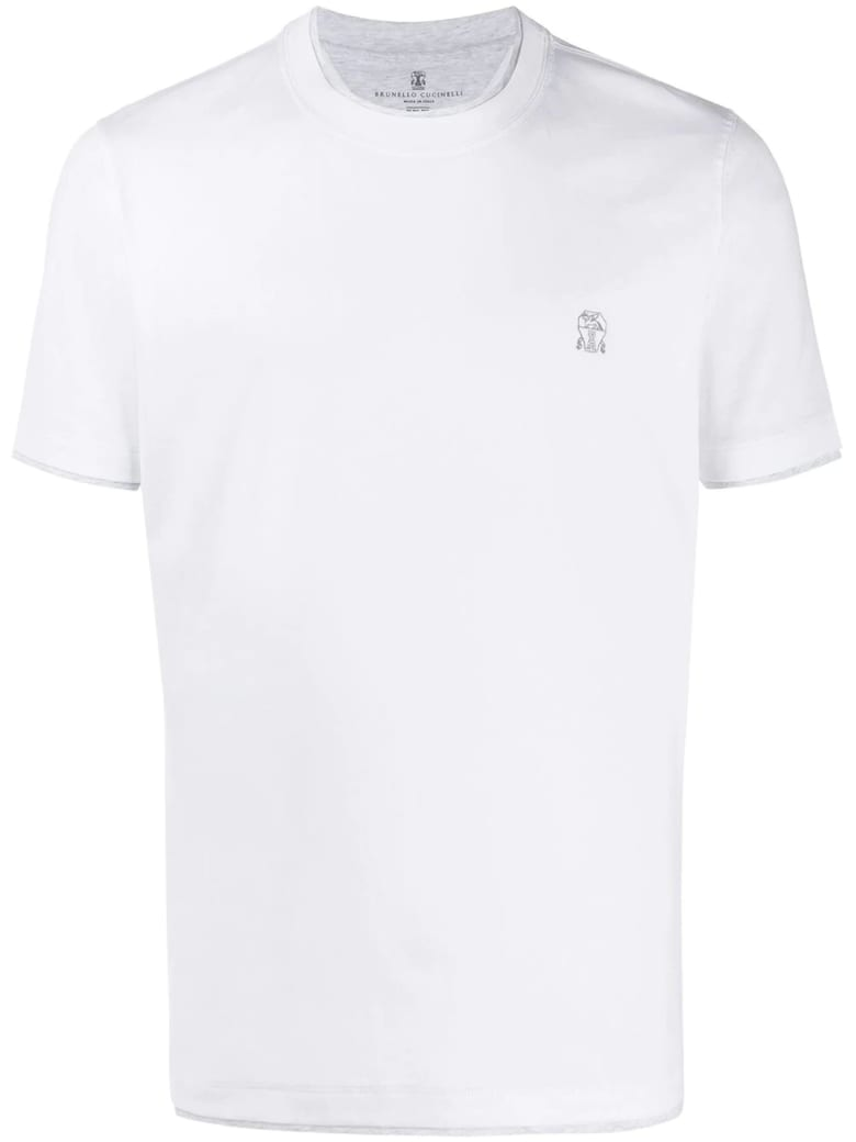 Brunello Cucinelli White Cotton T-shirt - Bianco
