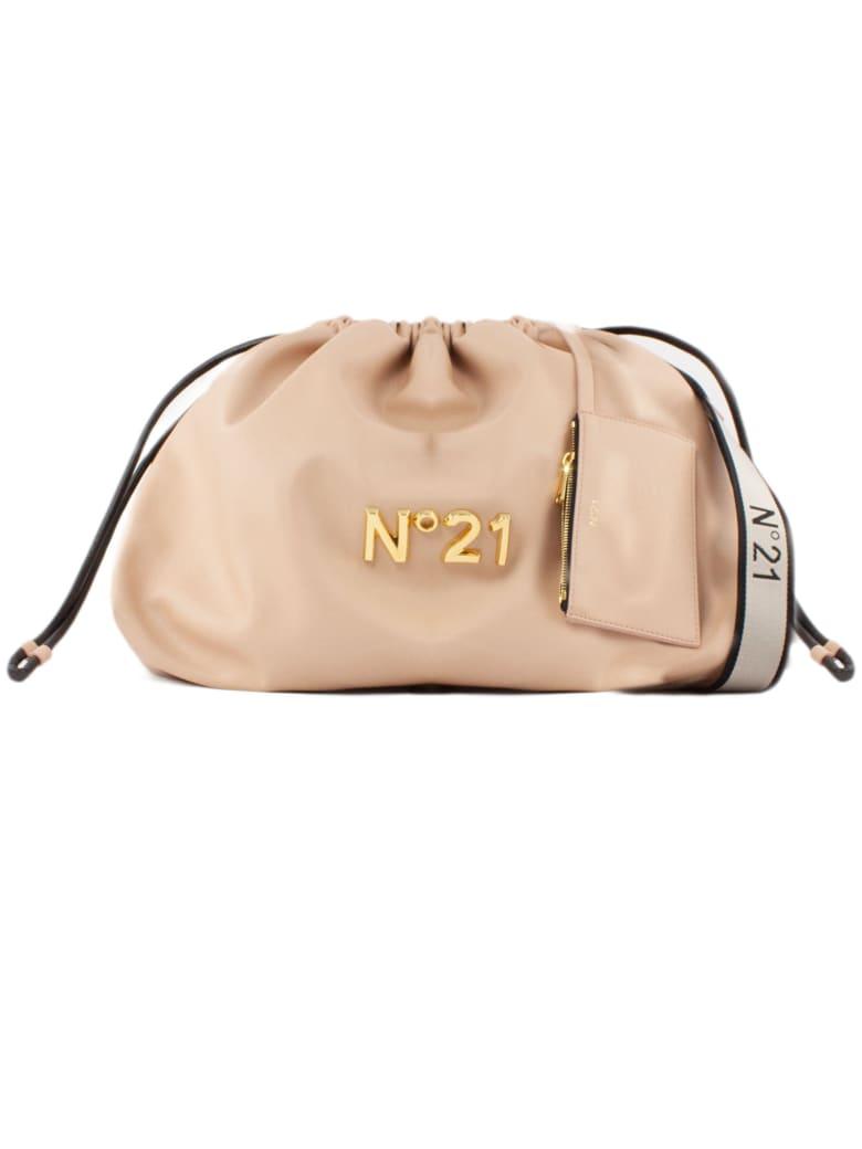 N.21 Large Pink Eco-leather Shoulder Bag - ROSA