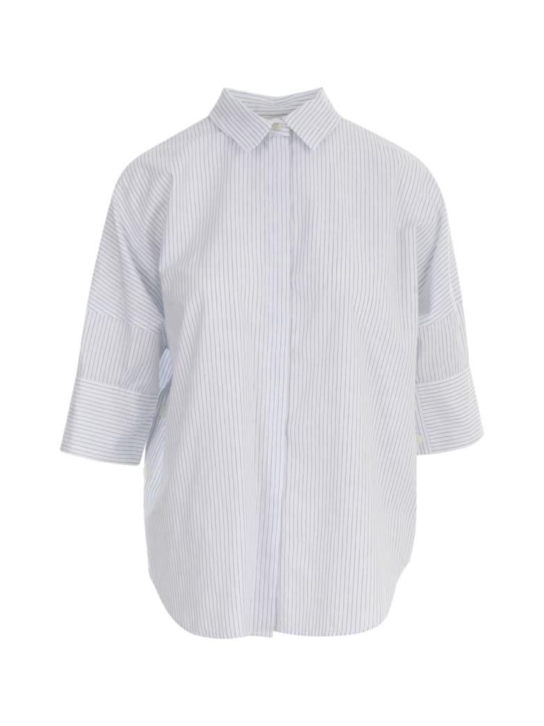 19.70 Nineteen Seventy Striped 3/4s Shirt - Blue