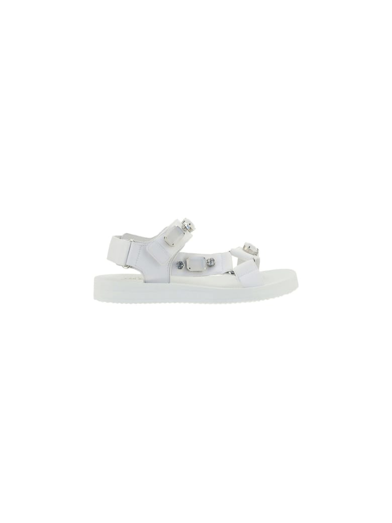 Car Shoe Sandals - WHITE