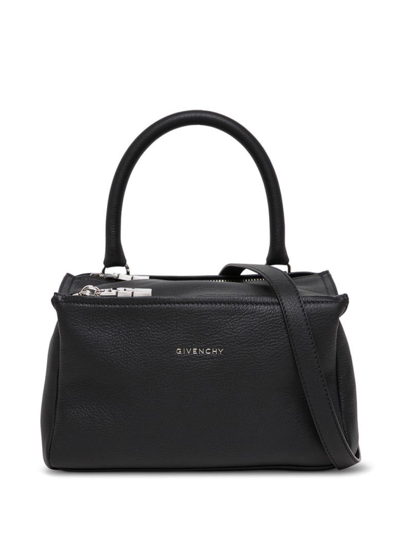 Givenchy Pandora Handbag In Black Leather With Logo - Black