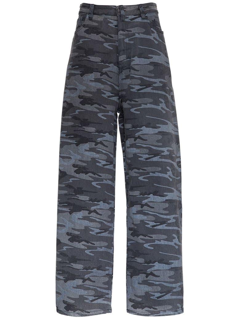 Balenciaga Wide Leg Camouflage Jeans - Grey