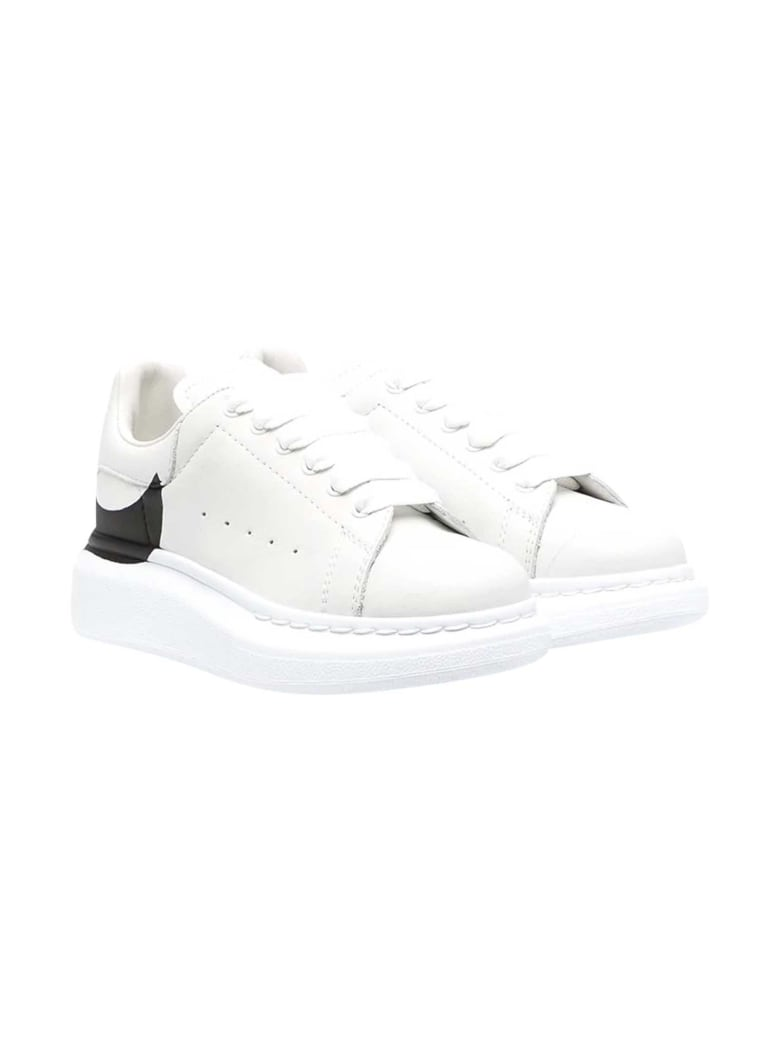 Alexander McQueen White Sneakers Kids - Bianco/nero