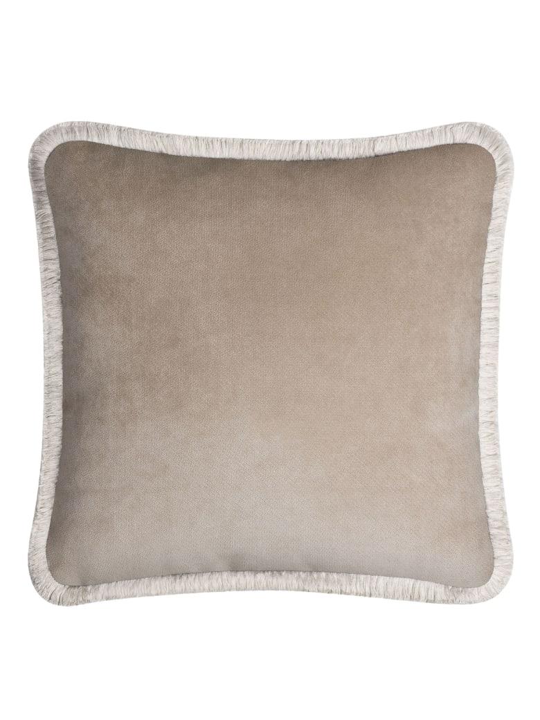 Lo Decor Happy Velvet Pillow - beige/cream