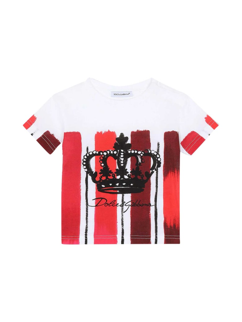 Dolce & Gabbana Striped T-shirt - Rossa