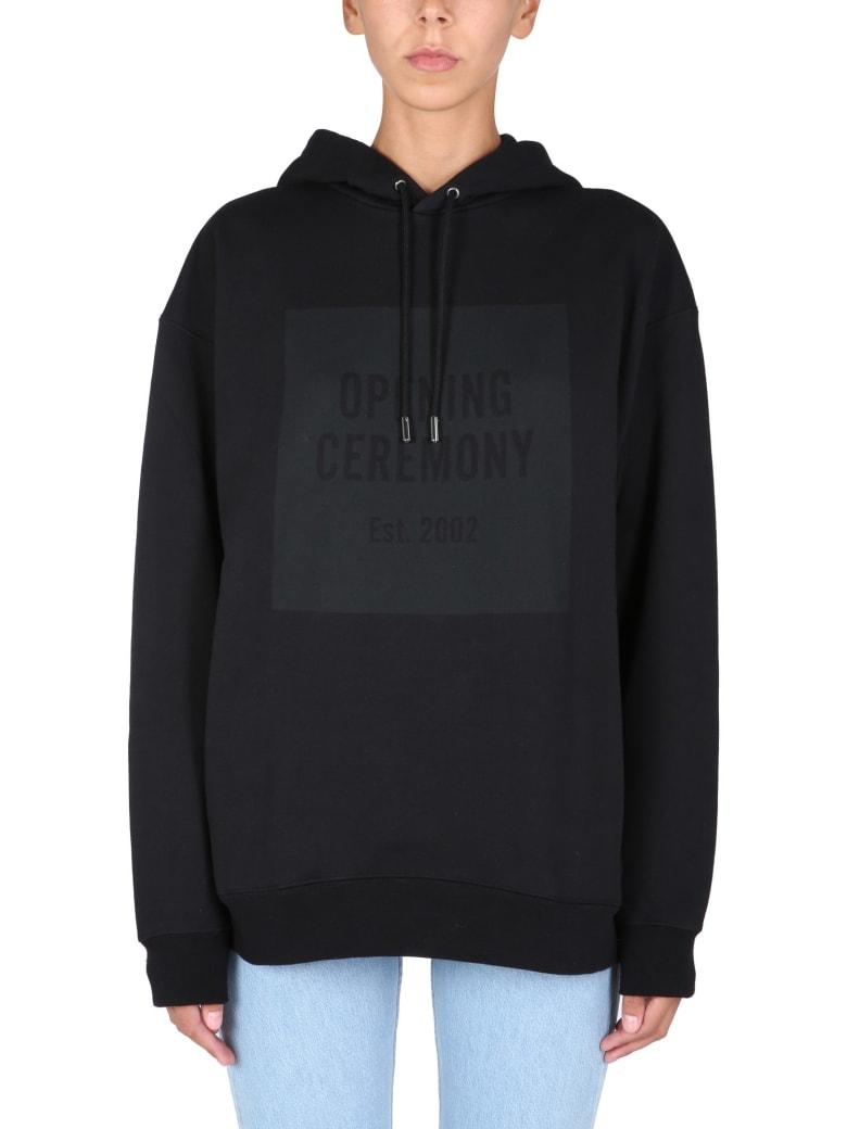 Opening Ceremony Sweatshirt With Logo Box - Black