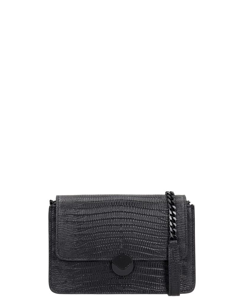 Visone Shoulder Bag In Black Leather - black