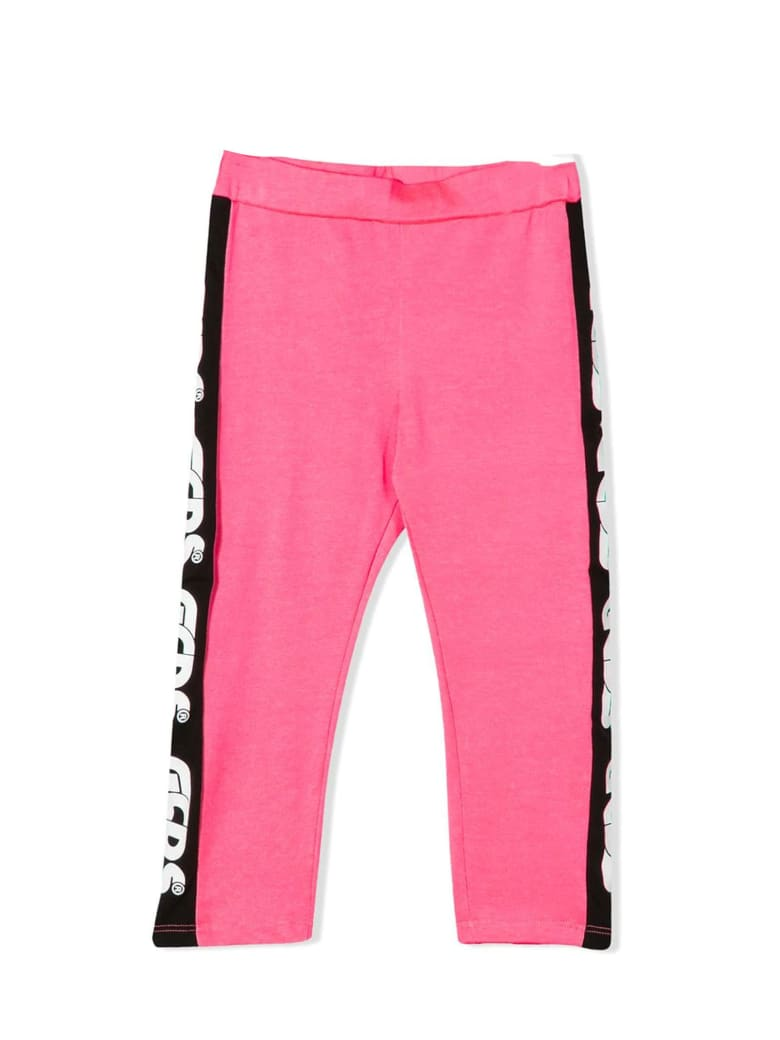 GCDS Pink Cotton Blend Leggings - Fuxia