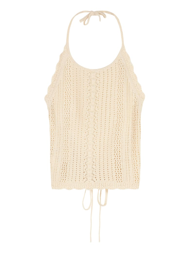 Pinko Bocce Knitted Top - Sand