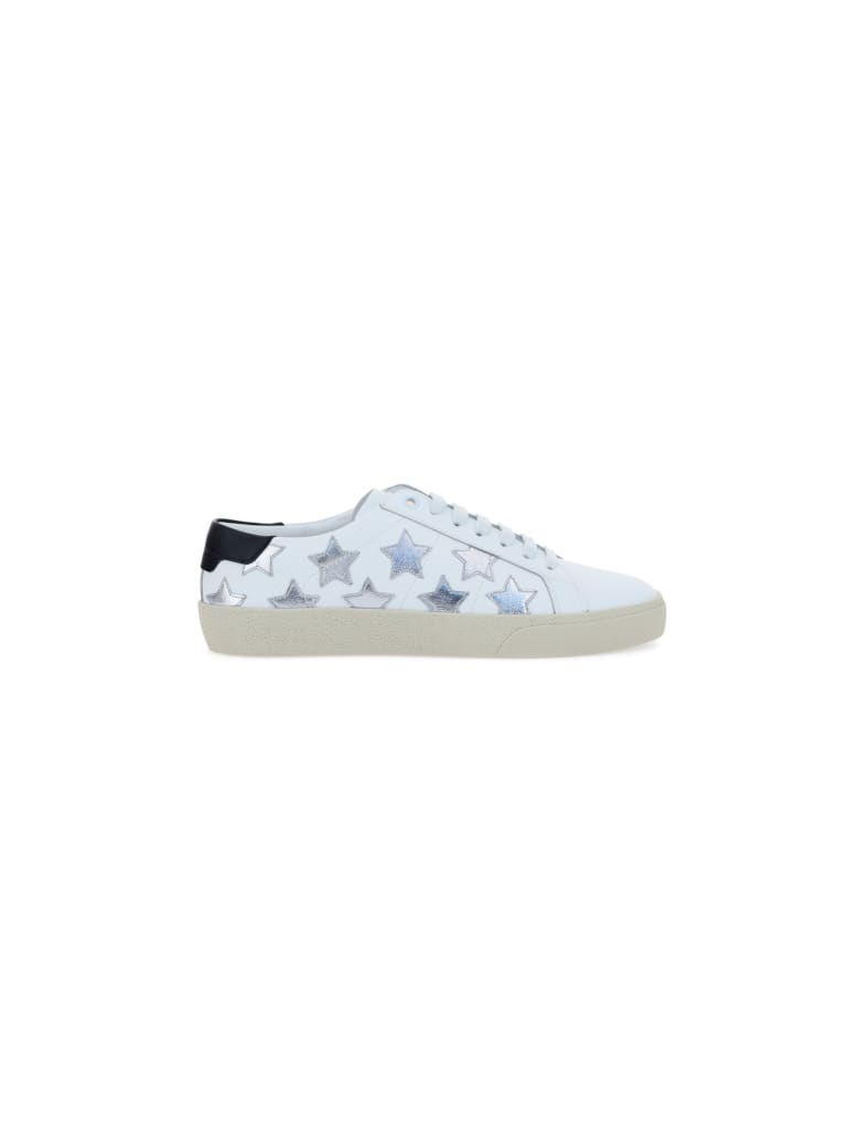 Saint Laurent Court Classic Sl/06 Metallic California Sneakers - Blanc optiq/arg/nero