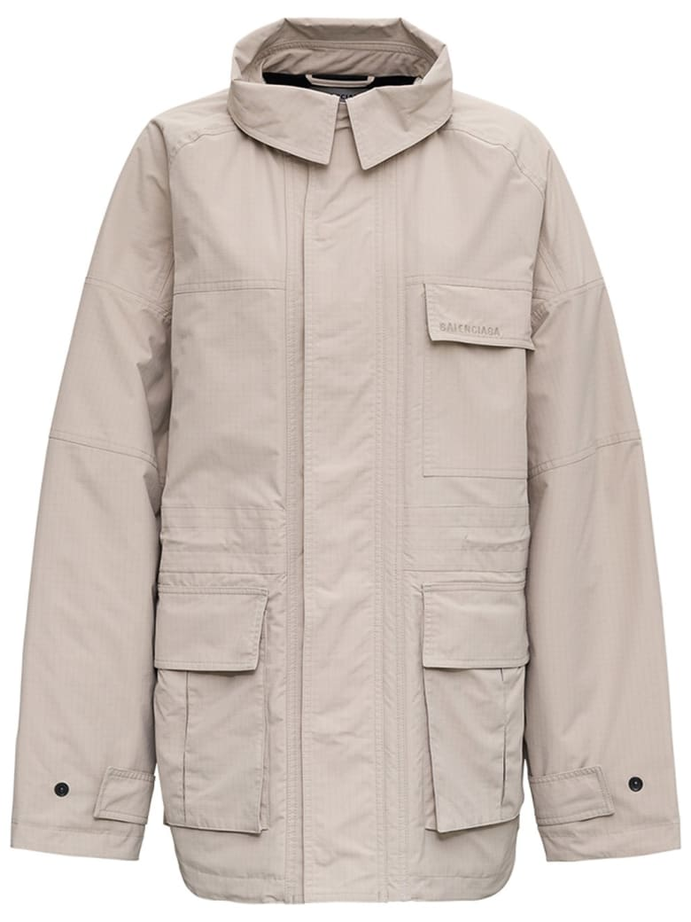 Balenciaga Oversize Beige Coat - Beige