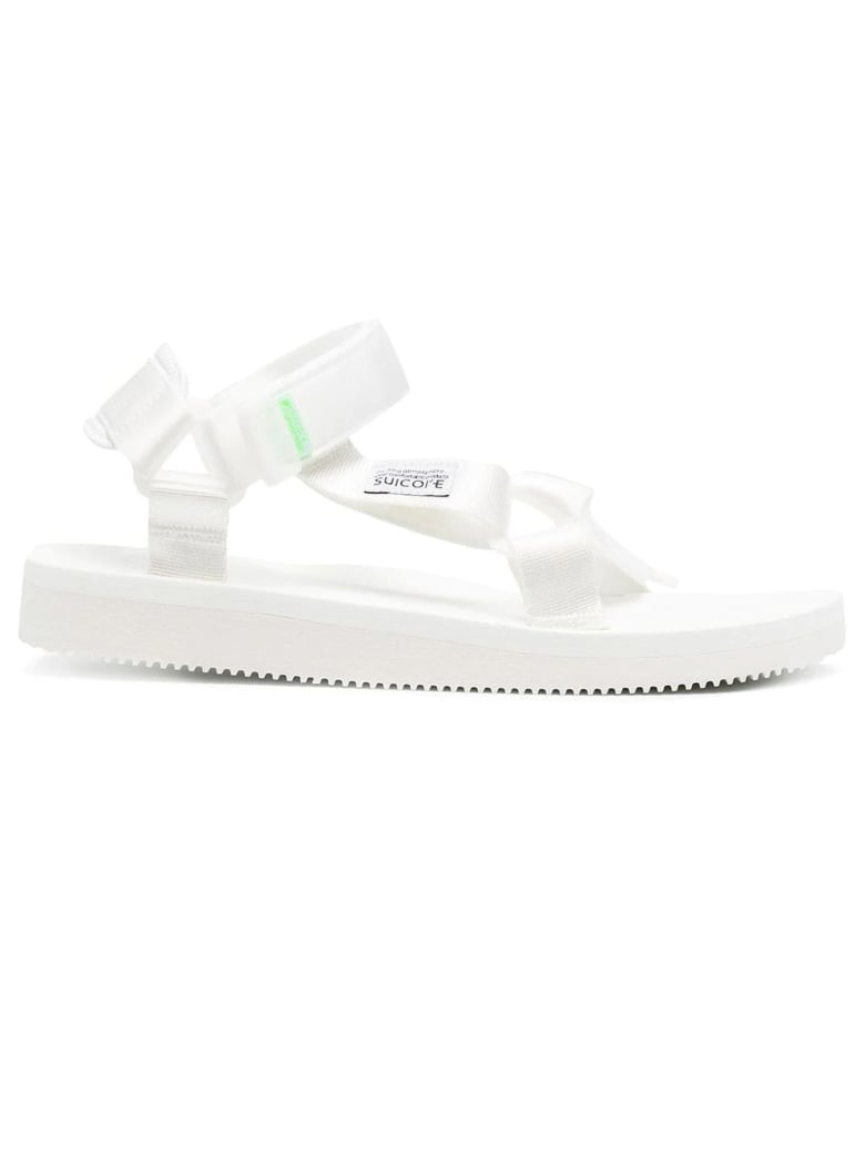SUICOKE White Open Toe Ripstop Sandals - Bianco