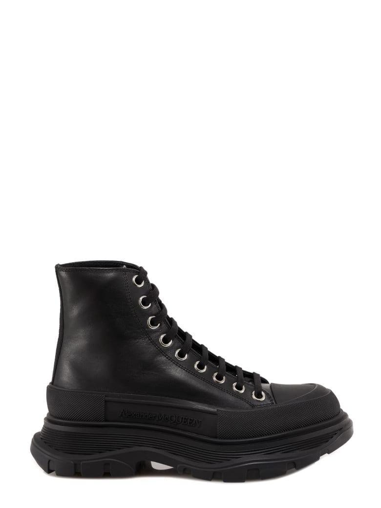 Alexander McQueen Tread Slick Ankle Boot - Black/silver