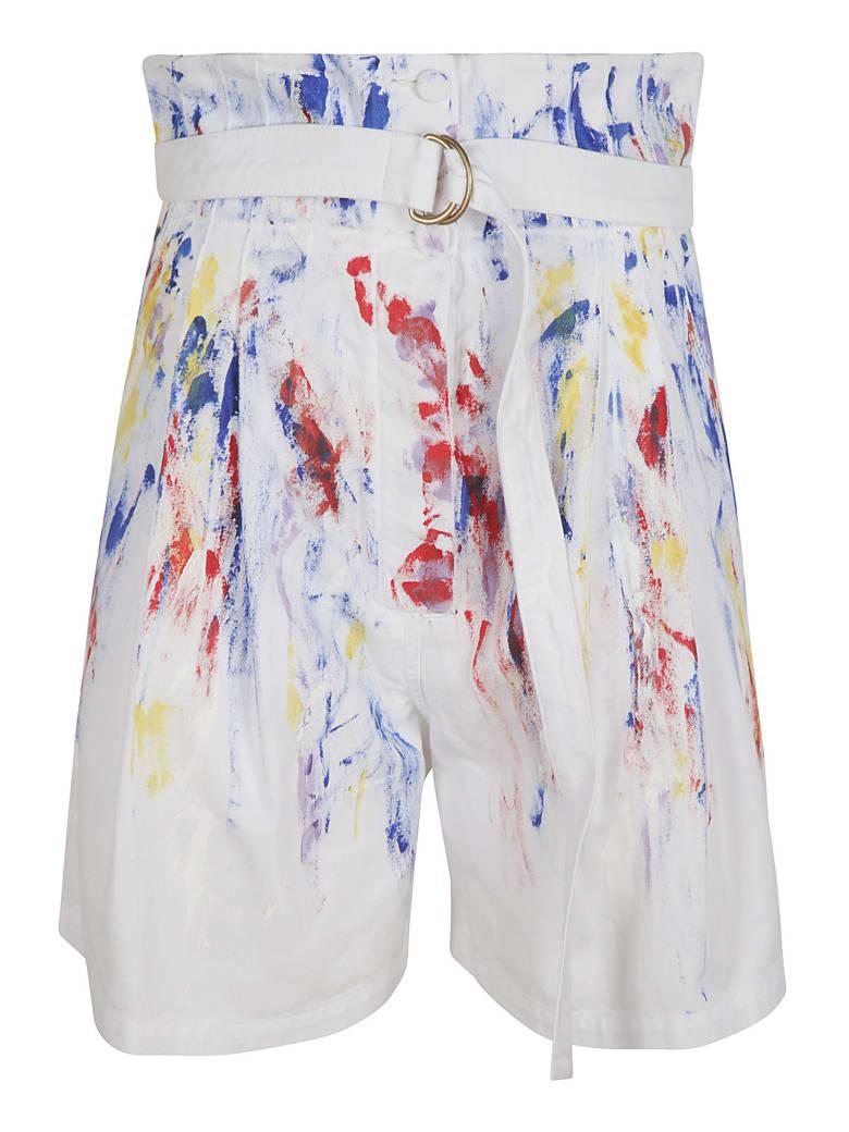 Philosophy di Lorenzo Serafini High-waist Painted Shorts - Bianco