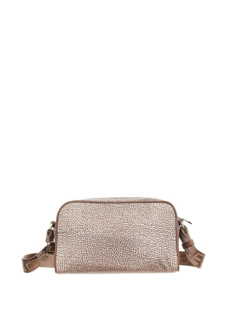 Borbonese Shoulder Bag - BEIGE/MARRONE
