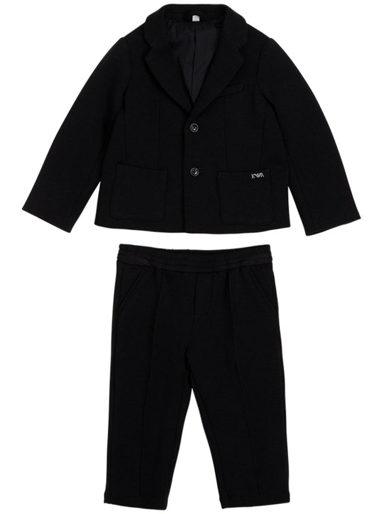 Emporio Armani Coordinated Blue Cotton Suit - Blu