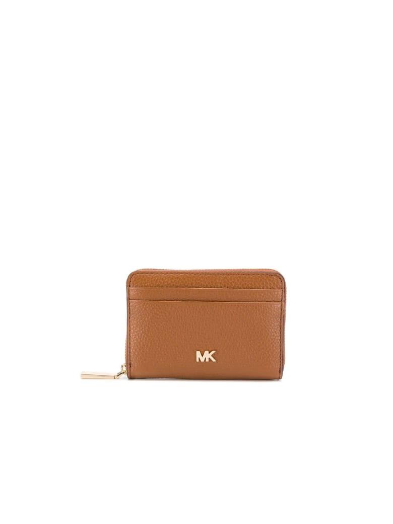 Michael Kors Mott Light Brown Card Holder - Marrone