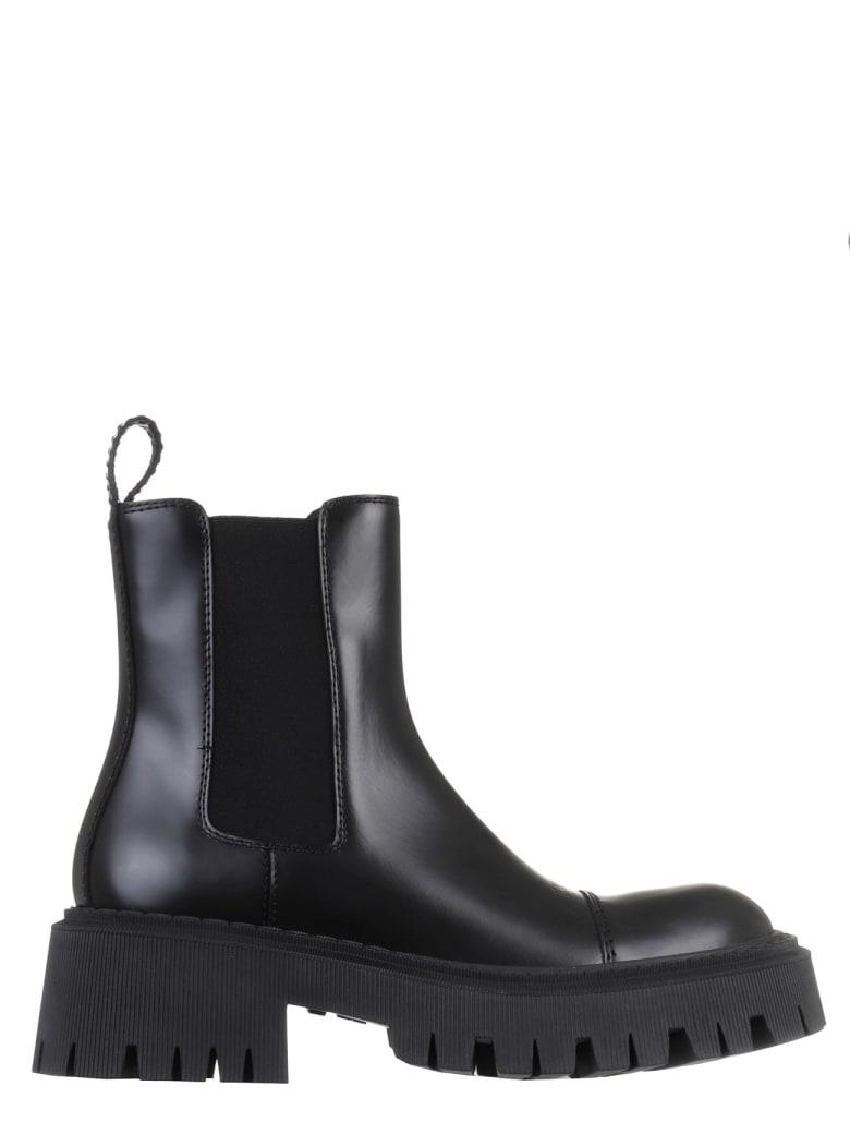 Balenciaga Black Tractor Boots - Black